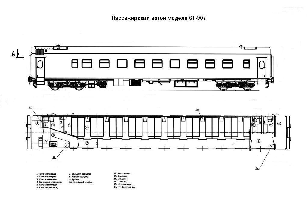 Пассажирский вагон 61-907